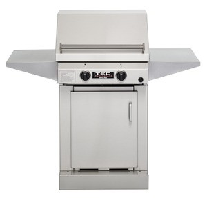 TEC Sterling II FR Natural Gas Grill, Cabinet Base and Two Side Shelves