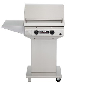 TEC Sterling II FR Natural Gas Grill, Pedestal Base & One Side Shelf