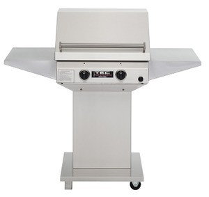 TEC Sterling II FR Natural Gas Grill, Pedestal Base & Two Side Shelves