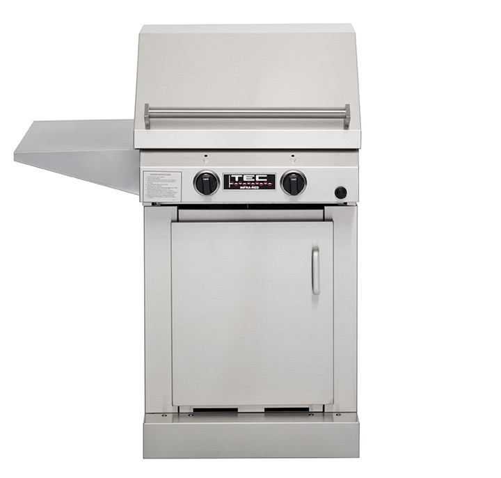 TEC Sterling II FR Natural Gas Grill, Cabinet Base & One Side Shelf