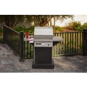 Patio FR - 1 Burner Gas Grill - Black Base - FREE Side Shelves