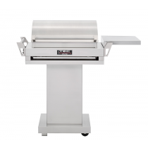 TEC G-Sport FR Gas Grill, Stainless Pedestal Base and Side Shelf