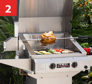 FREE Rotisserie Kit Shipped With Purchase Of Any Sterling II FR, Sterling  III FR, Sterling IV FR And G2000FR, G3000FR, G4000FR TEC Infrared Gas Grill  Models